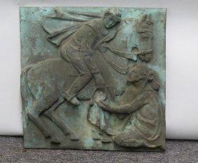 Bronze Plaque - The Good Samaritan