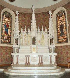 Large Beautiful Italian 3 Piece Marble Altar Set