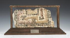Roman Mosaic Fragment, C 200 Ce In Case