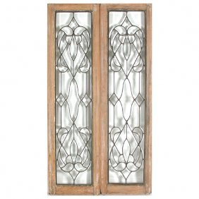 2 Panels Leaded & Beveled Clear Glass