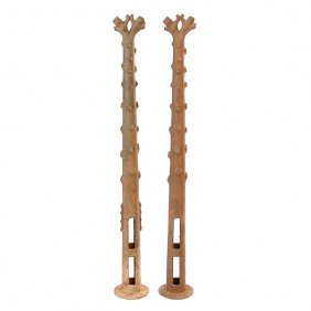 California Cast Iron Hitching Posts, Trees, 19th. C