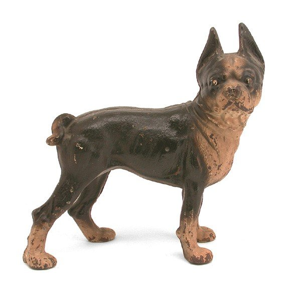 603 hubley boxer cast iron dog doorstop lot 603 - Cast iron dog doorstop ...
