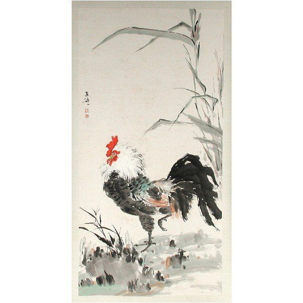 Chinese Brush Paintings Of Roosters
