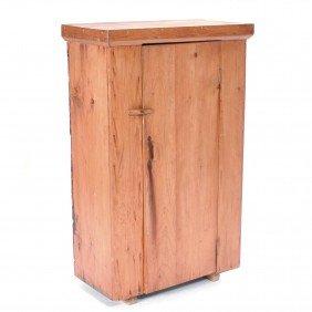 American Pine Single Door Cupboard, 19th C.