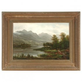 David MacKenzie Painting, Highland Loch