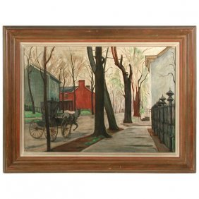 "Beatrice S. Levy Painting, ""A Street I Remember"""