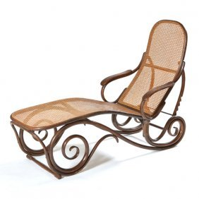 Thonet bentwood chaise lounge 19th c lot 2 for Chaise bentwood