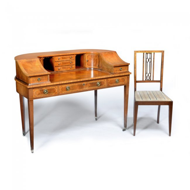 Fancy Lady 39 S Writing Desk Mahogany With String Inlay