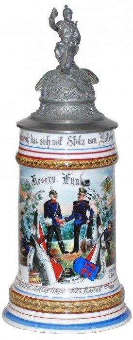 Rastatt 1900-1902 Regimental Stein Two Uniforms