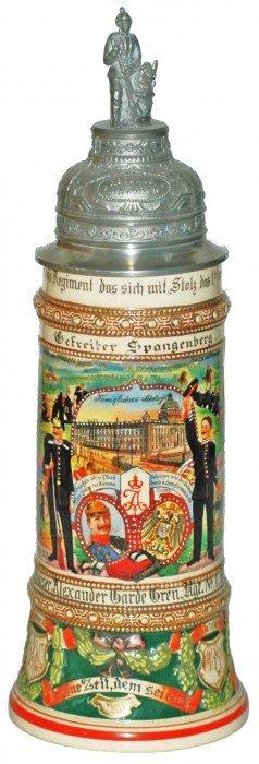 Berlin Regimental Pottery Stein