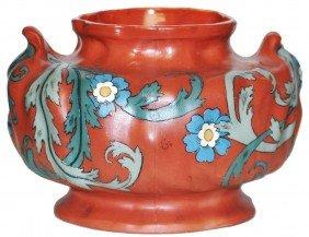 Art Nouveau Wide Mettlach Vase