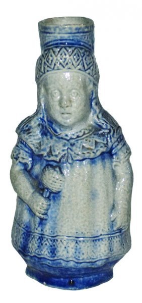 """Young Girl 4"""" Stoneware Character Stein"""