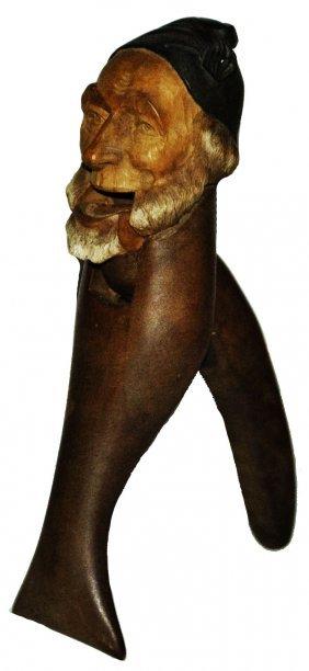 Black Forest Swiss Carved Wood Dwarf Nutcracker