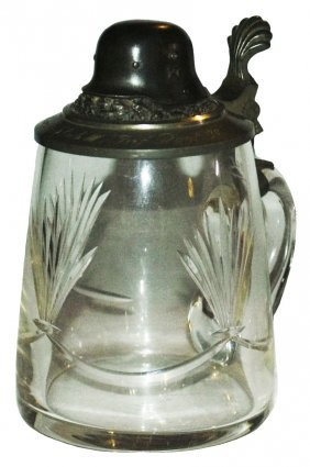 Cut Line Design Glass Stein Third Reich Helmet Lid
