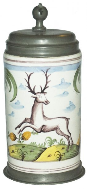 Leaping Stag Circa 1780 Magdeburg Faience Stein