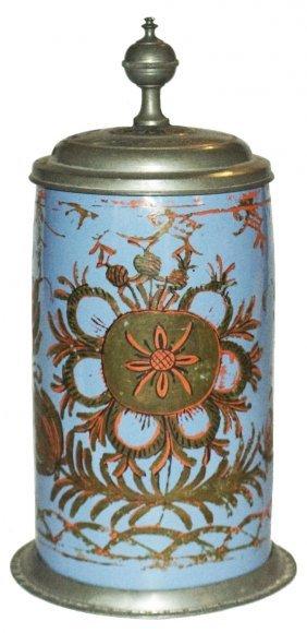 Tin Glazed Cold Painted Schrezheim Faience Stein
