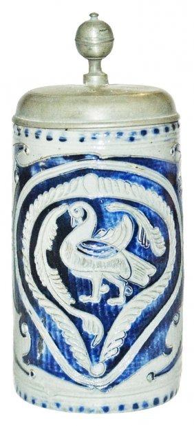Circa 1780 Scratch Work Westerwald Stoneware Stein