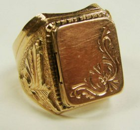14K Rose Gold Poison Ring Russian