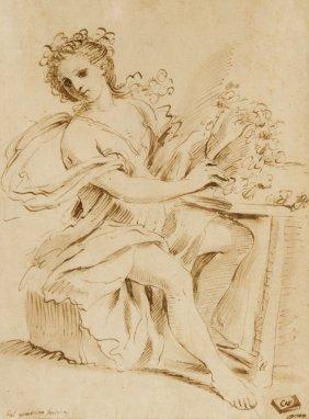 Il Guercino [da], Sitting Lady