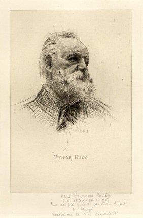 Rodin, Victor Hugo, De Trois Quarts