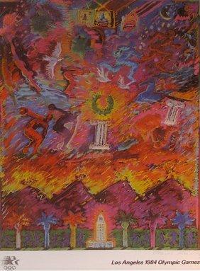 Carlos Almaraz Los Angeles 1984 Olympic Poster