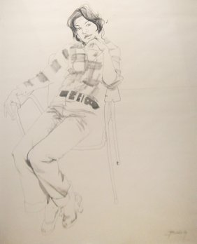 Don Bachardy Untitled (Portrait Of Luz Selenia Offe