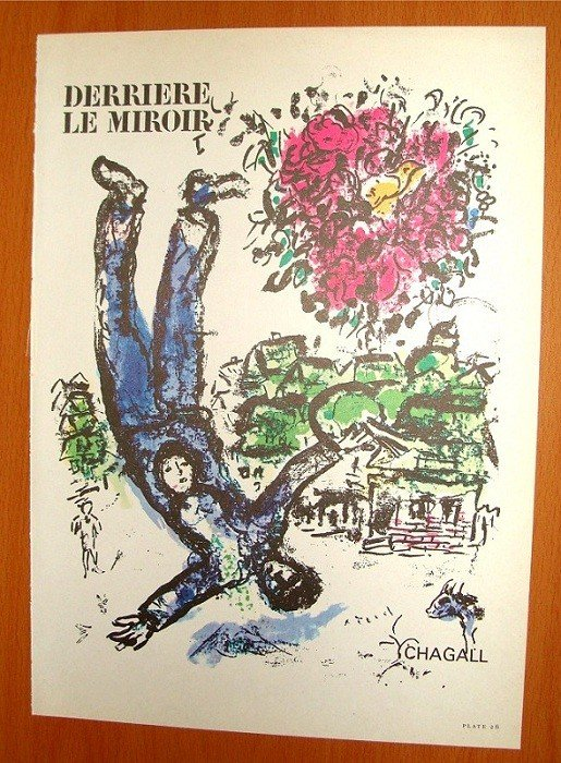 Marc chagall derriere le miroir cover no 147 lot 2016 for Derriere le miroir