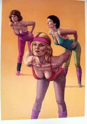 """Aerobics I"" Signed & Numbered Serigraph 7/350"