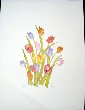 Tulips By Moran Signed & Numbered #662/750