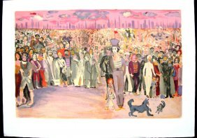 Marcel Marceau Circus Lithograph C 1950
