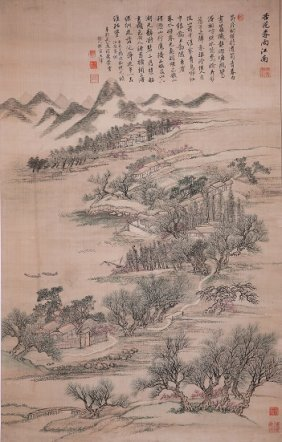 A Very Fine Chinese Painting By Wang Hui