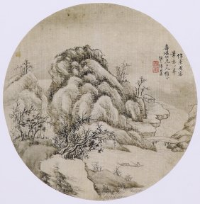 A Very Fine Chinese Painting By Zhang Erkang.