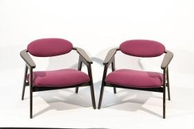 PAIR OF ADRIAN PEARSALL LOUNGE CHAIRS