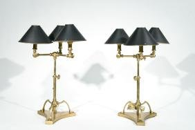 PAIR OF CHAPMAN ADJUSTABLE TABLE LAMPS