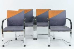 (4) FRITZ HANSEN COLOR BLOCK CHAIRS