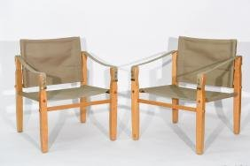 PAIR OF KARE KLINT STYLE CHAIRS