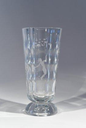 Orrefors Crystal, Edvin Ohrstrom Vase