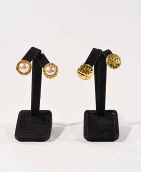 Chanel & Lagerfeld Earrings