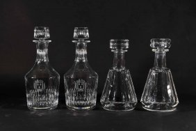BACCARAT DECANTER PAIRS