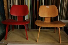 Two Herman Miller Eames Chairs