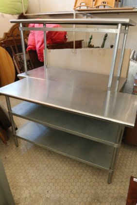 Three Stainless Steel Prep Tables.