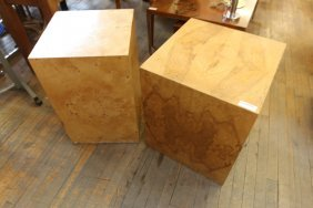 Two Milo Baughman Cube Tables In Different Sizes
