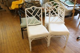 Four Chinese Chippendale Style Chairs