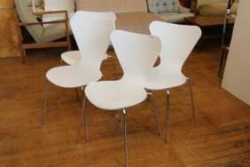 Four Arne Jacobsen Side Chairs