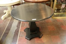 Black Wooden Pedestal Table