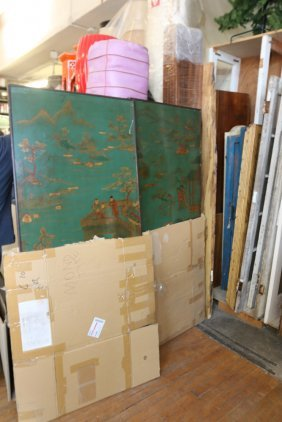 Rosewood Panels, Chinese Screen, And Doors.