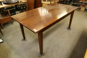 Wooden Two Drawer Library Table