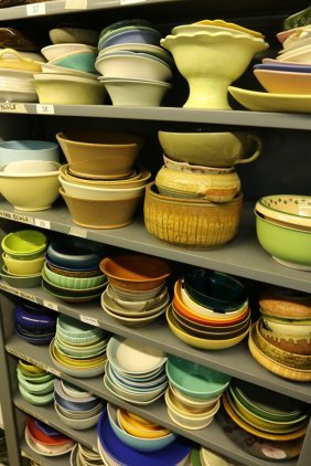 Grouping Of Stoneware And Porcelain Large Serving
