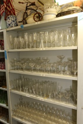 Large Grouping Of Champagne Glasses, Martini