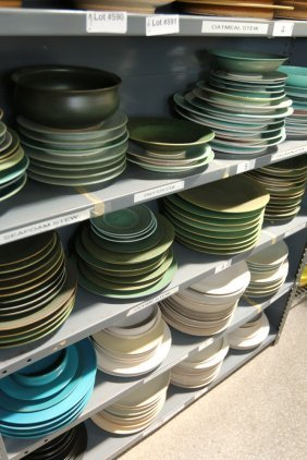 Large Grouping Of Stoneware Pottery Plates, And
